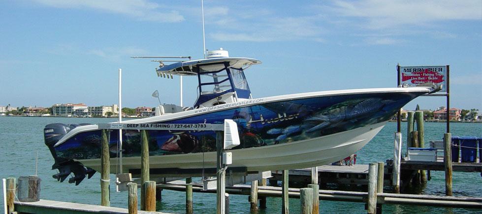 Off shore hustler fishing charters possessed